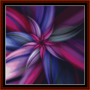 fractal 253 (small) cross stitch pattern by cross stitch collectibles