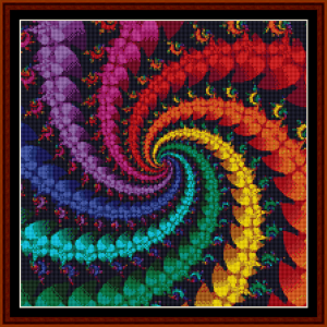 fractal 332 (small) cross stitch pattern by cross stitch collectibles
