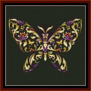 fractal 414 (small) cross stitch pattern by cross stitch collectibles