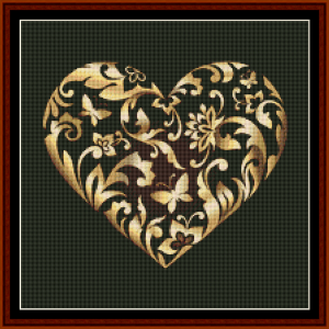 fractal 420 (small) cross stitch pattern by cross stitch collectibles