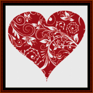 fractal 471 (small) cross stitch pattern by cross stitch collectibles