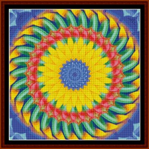 fractal 472 (small) cross stitch pattern by cross stitch collectibles