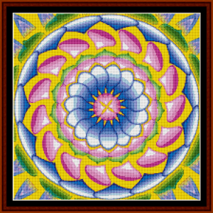 fractal 482 (small) cross stitch pattern by cross stitch collectibles