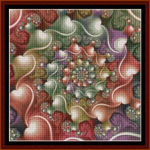 Fractal 632 (Small) cross stitch pattern by Cross Stitch Collectibles | Crafting | Cross-Stitch | Other