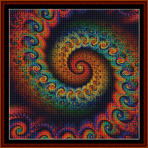 fractal 645 (small) cross stitch pattern by cross stitch collectibles