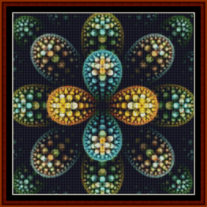 fractal 646 (small) cross stitch pattern by cross stitch collectibles