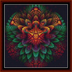 fractal 649 (small) cross stitch pattern by cross stitch collectibles