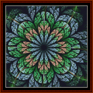 fractal 660 (small) cross stitch pattern by cross stitch collectibles
