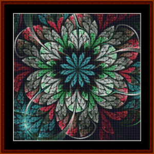 fractal 662 (small) cross stitch pattern by cross stitch collectibles