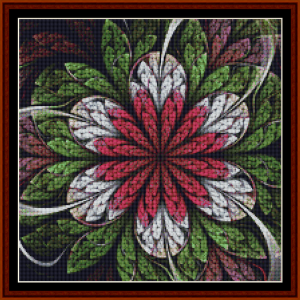 fractal 664 (small) cross stitch pattern by cross stitch collectibles