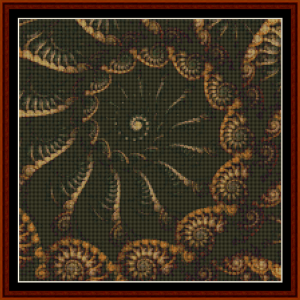 fractal 669 (small) cross stitch pattern by cross stitch collectibles