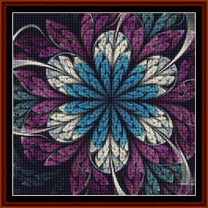 fractal 674 (small) cross stitch pattern by cross stitch collectibles