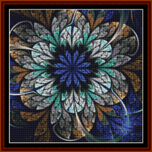fractal 676 (small) cross stitch pattern by cross stitch collectibles