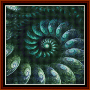 fractal 687 (small) cross stitch pattern by cross stitch collectibles