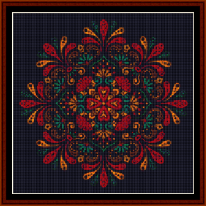 fractal 692 (small) cross stitch pattern by cross stitch collectibles