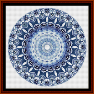 fractal 701 (small) cross stitch pattern by cross stitch collectibles