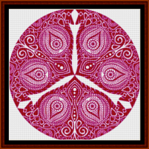 fractal 800 (small) cross stitch pattern by cross stitch collectibles