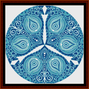 fractal 801 (small) cross stitch pattern by cross stitch collectibles