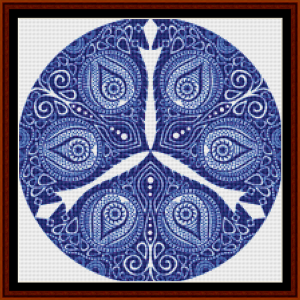 fractal 802 (small) cross stitch pattern by cross stitch collectibles