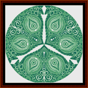 fractal 803 (small) cross stitch pattern by cross stitch collectibles
