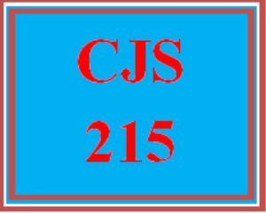 cjs 215 wk 1 discussion - forensics in criminal justice