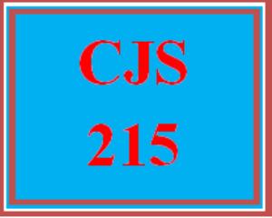 cjs 215 wk 2 discussion - crime scene activities