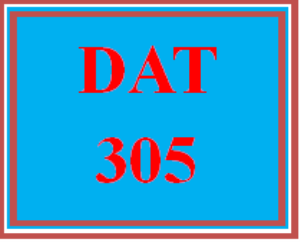 dat 305 wk 5 - apply - cumulative exam