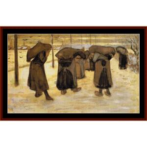 miner women – van gogh cross stitch pattern by cross stitch collectibles