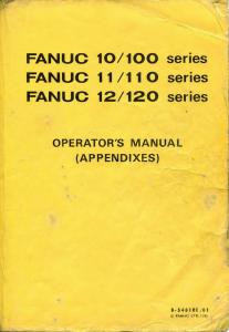 b-54810e/01 fanuc 10m, 11m, 12m, 10t, 11t, 12t operator's manual (appendixes) - parameter & alarms list