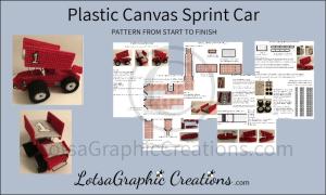 plastic canvas sprint car pattern