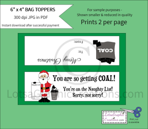 you are so getting coal bag toppers