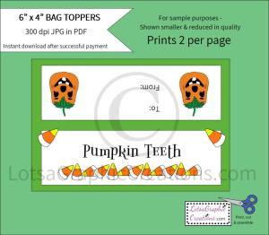 pumpkinteethbagtoppers