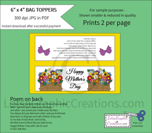 Happy Mother's Day Bag Toppers 1 | Other Files | Arts and Crafts