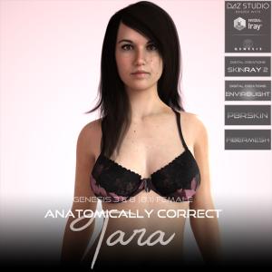 anatomically correct: tara for genesis 3 and genesis 8 female (8.1)