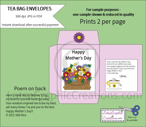 Happy Mother's Day Tea Bag Envelopes | Other Files | Arts and Crafts