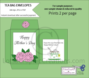 Happy Mother's Day Roses Tea Bag Envelopes | Other Files | Arts and Crafts