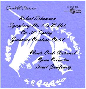 """schumann: genoveva overture, op. 81; symphony no. 1 in b-flat, op. 38 """"spring"""" - monte carlo noo/david josefowitz"""