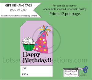 happy birthday gift & hang tags