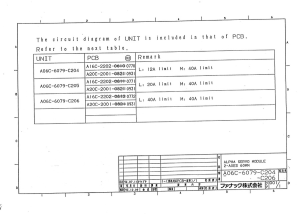 fanuc a06b-6079-h204, h205, h206 alpha svm2-12/40, svm2-20/40, svm2-40/40 (full schematic circuit diagram)