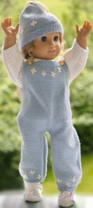 dollknittingpattern 0220d anniken - overall/pants, sweater, cap and shoes-(english)