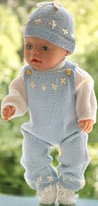 dollknittingpatterns  modell 0220d anniken - overall, genser, lue og sko-(norsk)
