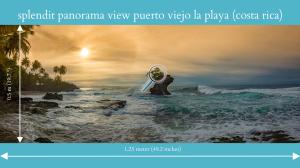 splendit panorama puerto viejo la playa (1.25 x 0.5 m) poster sent to usa