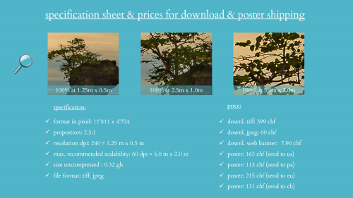 First Additional product image for - splendit panorama puerto viejo la playa (1.25 x 0.5 m) Poster sent to Switzerland
