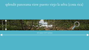 splendit panorama puerto viejo la selva (4.0 x 0.5 m) poster sent to europe