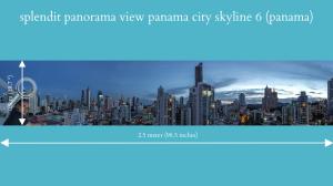 splendit panama city skyline 6 (2.5 x 0.5 m) poster sent to usa