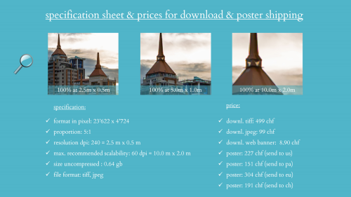 First Additional product image for - splendit panama city skyline 7 (2.5 x 0.5 m) Poster sent to Switzerland