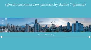 splendit panama city skyline 7 (2.5 x 0.5 m) poster sent to usa