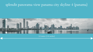splendit panama city skyline 4 (3.0 x 0.5 m) poster sent to europe