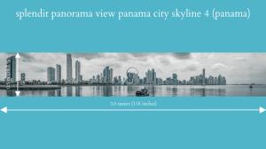 splendit panama city skyline 4 (3.0 x 0.5 m) poster sent to usa