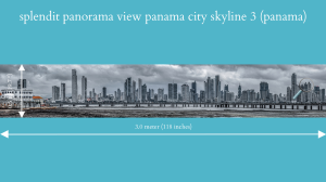 splendit panama city skyline 3 (3.0 x 0.5 m) poster sent to europe
